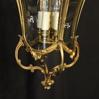 Italian Gilded Bronze Four Light Lantern (9 of 10)