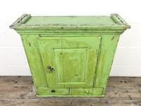 Rustic Antique Green Painted Wall Cupboard (2 of 11)