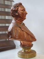 Superb Rare Large 19th Century Photo Sculpture Copper Bust by Willeme (4 of 11)