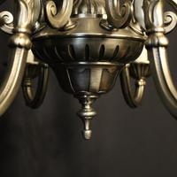 French Silver Gilded 12 Light Chandelier (4 of 10)