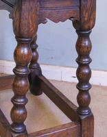 Antique Oak Stool Joint Stool (2 of 5)
