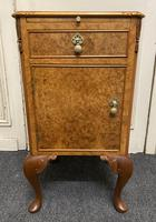 Burr Walnut Bedside Cupboard