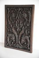 Carved Wood Ornamental Plaque