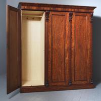 Victorian Mahogany 3 Door Wardrobe from Ayton Castle (10 of 12)