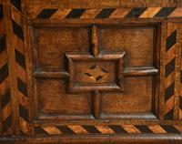 17th Century Oak Geometric Oak Coffer (3 of 8)