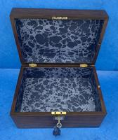 Victorian Rosewood Jewellery Box with Side Drawer (11 of 12)