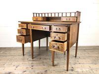 Edwardian Antique Oak Kneehole Desk (9 of 13)