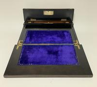 Antique Amboyna Mother of Pearl Inlaid Writing Slope Lap Box (4 of 19)