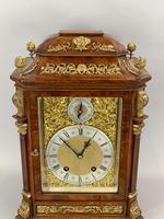 Fine Quality Burr Walnut Bracket / Mantel Clock by Lenzkirch (8 of 15)