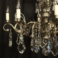 Italian Silver & Crystal Genoa 8 Light Chandelier (9 of 10)