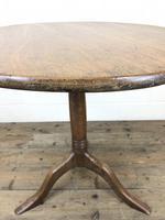 Antique Oak Circular Tripod Table (7 of 9)