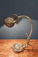 Superb Antique Brass Adjustable Desk Lamp (6 of 7)