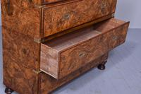 Burr Walnut Victorian Campaign Chest of Drawers (6 of 10)