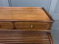 Maple & Co Inlaid Mahogany Tambour Cylinder Desk (6 of 22)
