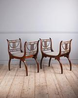 Pair of elegant Edwardian rosewood window seats