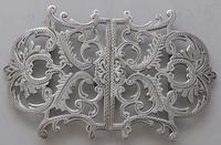Edwardian Birmingham 1911 Hallmarked Solid Silver Nurses Belt Buckle (2 of 8)