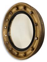 Regency Gilt Round Convex Mirror (3 of 5)