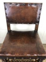 Set of Six Oak and Leather Dining Chairs (4 of 23)