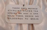 Late Art Deco Silver Coffee Spoons, Hallmarked 1934 (4 of 5)