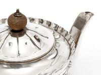 Victorian Silver Bachelor Style Tea Pot with a Crested Body (3 of 7)