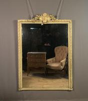 Large painted French chateau style mirror (5 of 8)