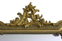 19th Century French Gilt Wall Mirror Overmantle Crest (5 of 9)