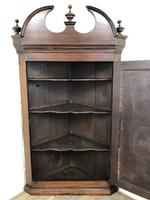 Antique Georgian Mahogany Hanging Corner Cupboard (8 of 11)