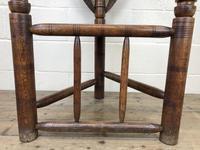 Antique Carved Oak Corner Chair (6 of 10)