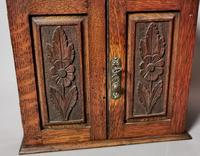 Antique Victorian Oak Smokers Cabinet, Arts & Crafts (3 of 14)