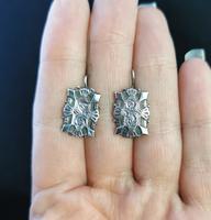 Victorian Silver Demi Parure, Earrings & Brooch (13 of 14)