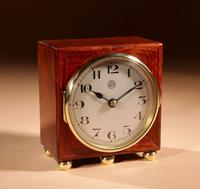 Early Electrical Ato Art Deco Small Desk / Mantel Clock