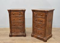Pair of Walnut Bedside Chests of Drawers attributed to Gillows (7 of 7)