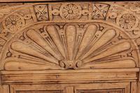 Carved Raw Oak Glazed Bookcase (20 of 21)