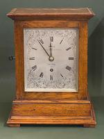 Honey-Oak Table Clock With Fusee Movement & Passing Strike