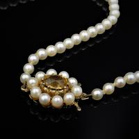 Vintage Pearl and Citrine 9ct Yellow Gold Beaded Pearl Strand Necklace (8 of 11)