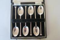 Cased Set of 6 Antique Silver Nail-head Coffee Spoons (8 of 9)