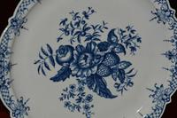 18th Century - First Period - Worcester Blue & White Pine Cone Pattern Dish (7 of 8)