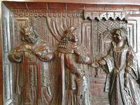 A 19thc Mahogany Carved Relief Panel Depicting Tudor Interior Scene (4 of 7)