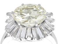 8.24ct Diamond & Platinum Ring by Boucheron - Vintage c.1950 (3 of 13)