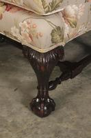 Chippendale Style Floral Upholstered Wing Chair (11 of 16)