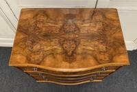 Re Finished Burr Walnut Serpentine Chest of Drawers (2 of 10)