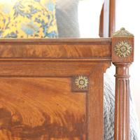 French Empire Style Mahogany Antique Bed (3 of 7)
