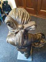 A Bronze Of A Young Girl With A Basket Full Of Apples (4 of 7)