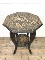 Early 20th Century Carved Side Table (3 of 9)