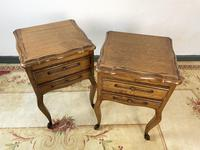 Vintage French Pair of Louis Style Bedsides Tables Oak Cabinets (10 of 12)