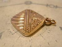 Antique Pocket Watch Chain Fob 1890 Victorian 10ct Rose Gold Filled Puffy Fob (5 of 10)