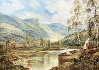 Scottish Loch, Signed: Theodore Hines (3 of 5)