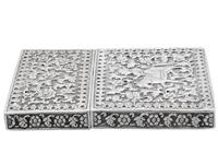 Indian Silver Card Case - Antique c.1880 (7 of 9)