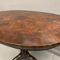 18th Century Segmented Oval Yew Wood Wine Table (7 of 7)