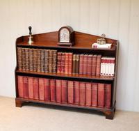 Edwardian Open Mahogany Bookcase c.1910 (3 of 12)